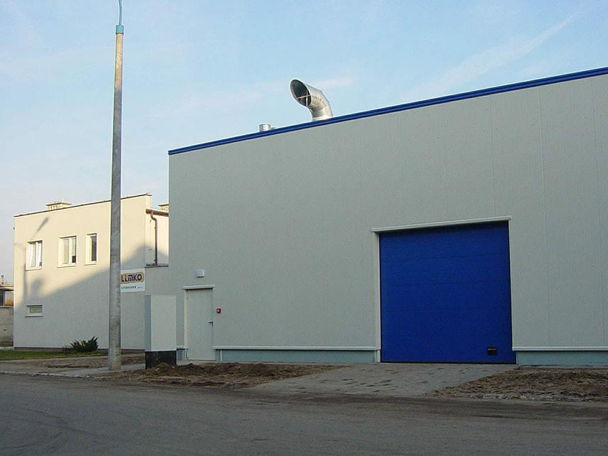fragment ściany bocznej - hala produkcyjna, dla Lubiana Zakłady porcelany Stołowej, Lubiana, woj. pomorskie