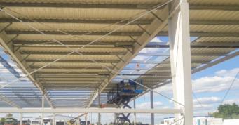 obudowa dachu z paneli blachy trapezowej - inwestycja w systemie zaprojektuj i wybuduj, dla Content, z Sulęcina, woj. lubuskie