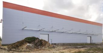 obudowa hali - kolejna budowa hali, dla firmy Fagum-Stomil, w Łukowie, w woj. lubelskim