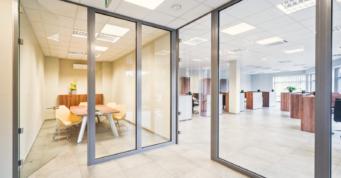 pomieszczenia biurowe - hala stalowa z budynkiem biurowym, dla Dreampen, Zielona Góra
