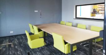 pomieszczenie przy hali - kompleks hal produkcyjno-magazynowych dla firmy Addit, wykonawstwo CoBouw Polska, w Węgrowie, w woj. mazowieckim