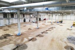 przygotowanie do montażu instalacji podposadzkowej - hala produkcyjno-magazynowa z częścią socjalno-biurową, Linea, Koszalin