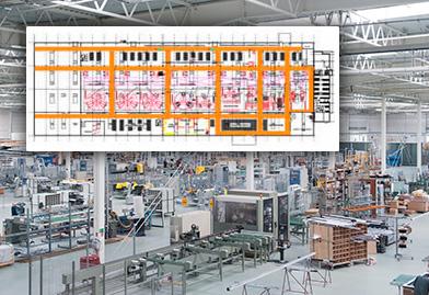 hala produkcyjna -plan