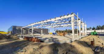 rozbudowa istniejącej hali o dwie dodatkowe nawy - druga inwestycja dla Viscon Group Poland, Płaszewko, woj. pomorskie
