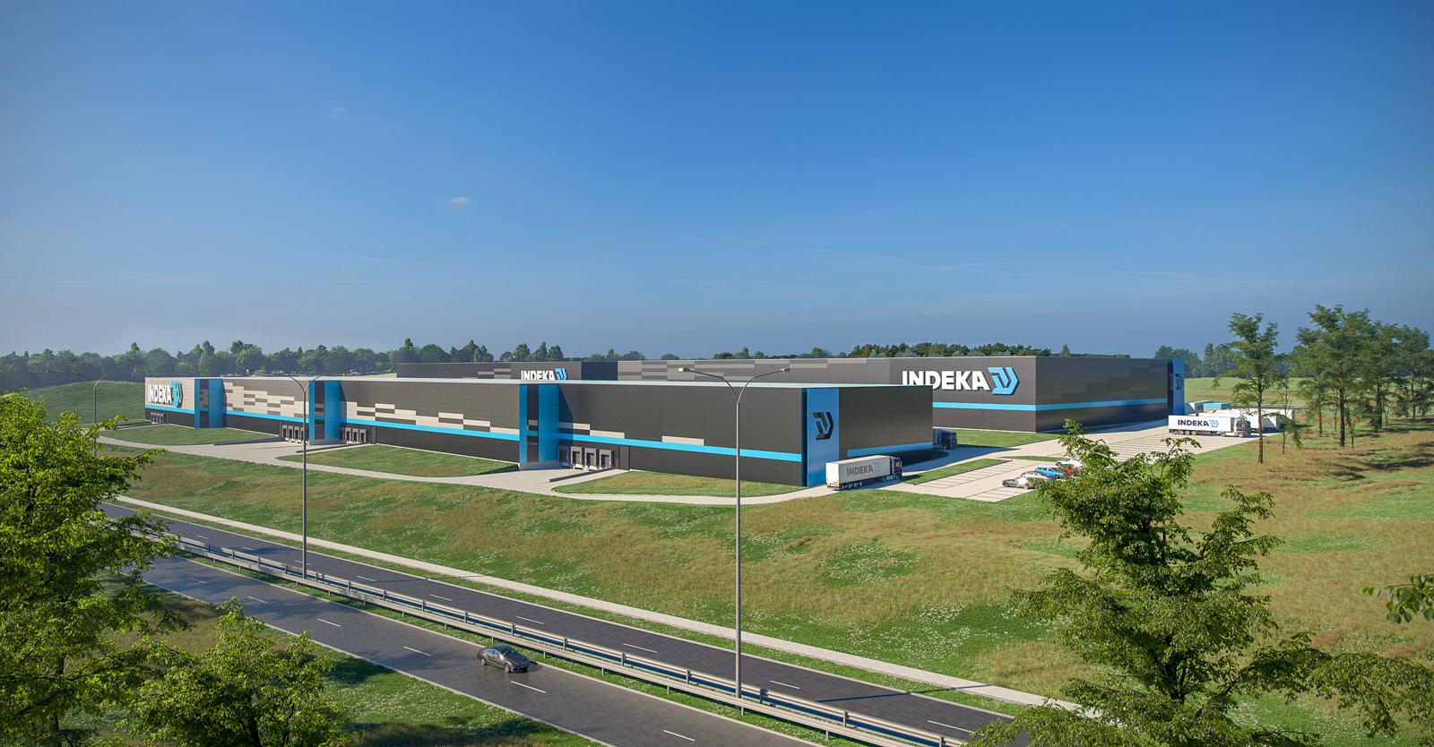 rozbudowa centrum logistycznego Indeka - hala logistyczna, drugi etap budowy centrum logistycznego, generalne wykonawstwo CoBouw Polska