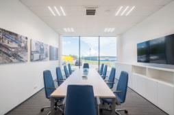 sala konferencyjna - hala produkcyjno-magazynowa z częścią socjalno-biurową, dla Viscon Real Estate Poland, zrelizowana przez CoBouw Polska, woj. pomorskie, Płaszewko