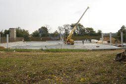 wznoszenie elementów konstrukcji stalowej - hala produkcyjna, dla Schell Industries, Rzepin