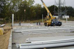 elementy konstrukcji stalowej - hala produkcyjna, dla Schell Industries, Rzepin, woj. lubuskie
