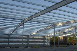 elementy konstrukcji stalowej - hala produkcyjna, dla Schell Industries, Rzepin, woj. lubuskie konstrukcja blachownicowa - hala produkcyjna, dla Schell Industries, Rzepin, woj. lubuskie