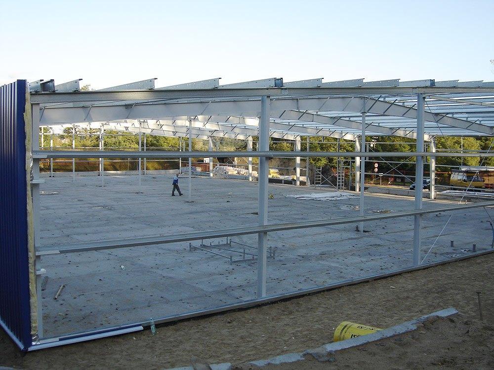 widok konstrukcji - hala produkcyjna, dla Schell Industries, Rzepin, woj. lubuskie