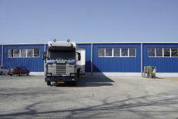 fragment elewacji - hala produkcyjna, dla Schell Industries, Rzepin, woj. lubuskie