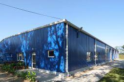 ściana frontowa i boczna - hala produkcyjna, dla Schell Industries, Rzepin, woj. lubuskie