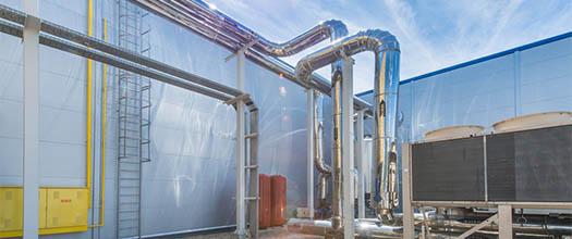 Element instalacji specjalistycznej hal stalowych