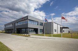 zdjęcie ogólne 1 - hala produkcyjno-magazynowa z budynkiem biurowym, dla Promens, Międzyrzecz, woj. lubuskie