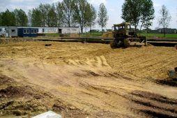 roboty ziemne - hala produkcyjna z budynkiem biurowym, dla OML Morando, Czerwionka-Leszczyny