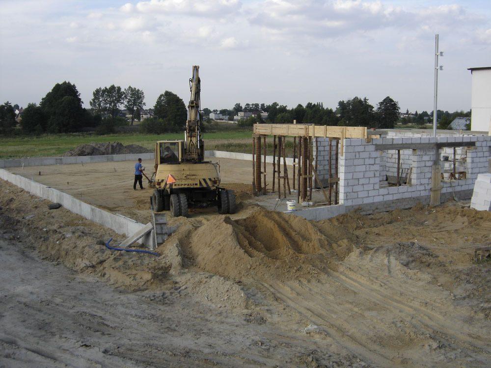 teren budowy 1 - hala magazynowa z częścią biurową, dla Texpol, Rzgów, woj. łódzkie