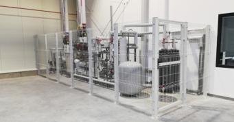 urządzenia przepompowni dla instalacji tryskaczowej - hala logistyczna, wybudowana dla Scania Production Słupsk SA, przez CoBouw Polska, hale stalowe