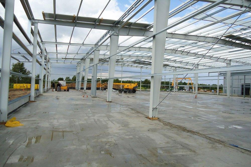 konstrukcja stalowa - hala produkcyjna z budynkiem biurowym, dla Vertex, Konst. Łódzki, woj. łódzkie