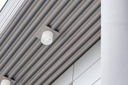 lampa oświetlająca elewacje - hala produkcyjna z budynkiem biurowym, dla Vertex, Konst. Łódzki, woj. łódzkie
