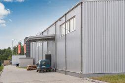 ściana boczna 2 - hala produkcyjna z budynkiem biurowym, dla Vertex, Konst. Łódzki, woj. łódzkie