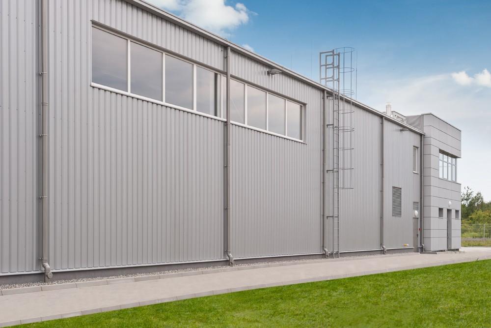 ściana boczna 1 - hala produkcyjna z budynkiem biurowym, dla Vertex, Konst. Łódzki, woj. łódzkie