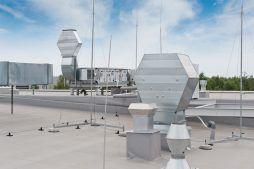membrana dachowa - hala produkcyjna z budynkiem biurowym, dla Vertex, Konst. Łódzki, woj. łódzkie