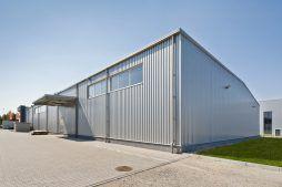 ściana boczna - hala produkcyjna z budynkiem biurowym, dla Vertex, Konst. Łódzki, woj. łódzkie