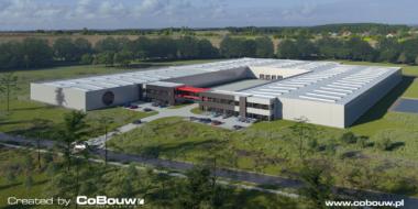 wizualizacja inwestycji Turenwerke, 2 etap - rozbudowa inwestycji greenfield, dla Turenwerke, Stanowice, woj. śląskie, 2 etap