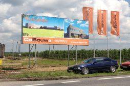 baner reklamowy - sortownia i przechowalnia owoców z częścią biurową, dla Gaik, Witalówka
